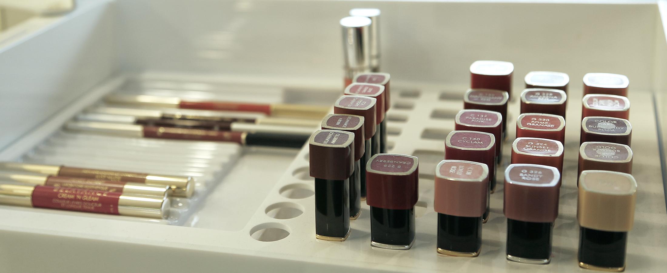 Eine von unseren Make-Up-Produktpaletten
