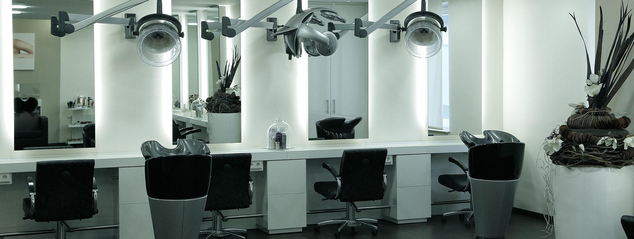 Der Styling-Bereich im Salon