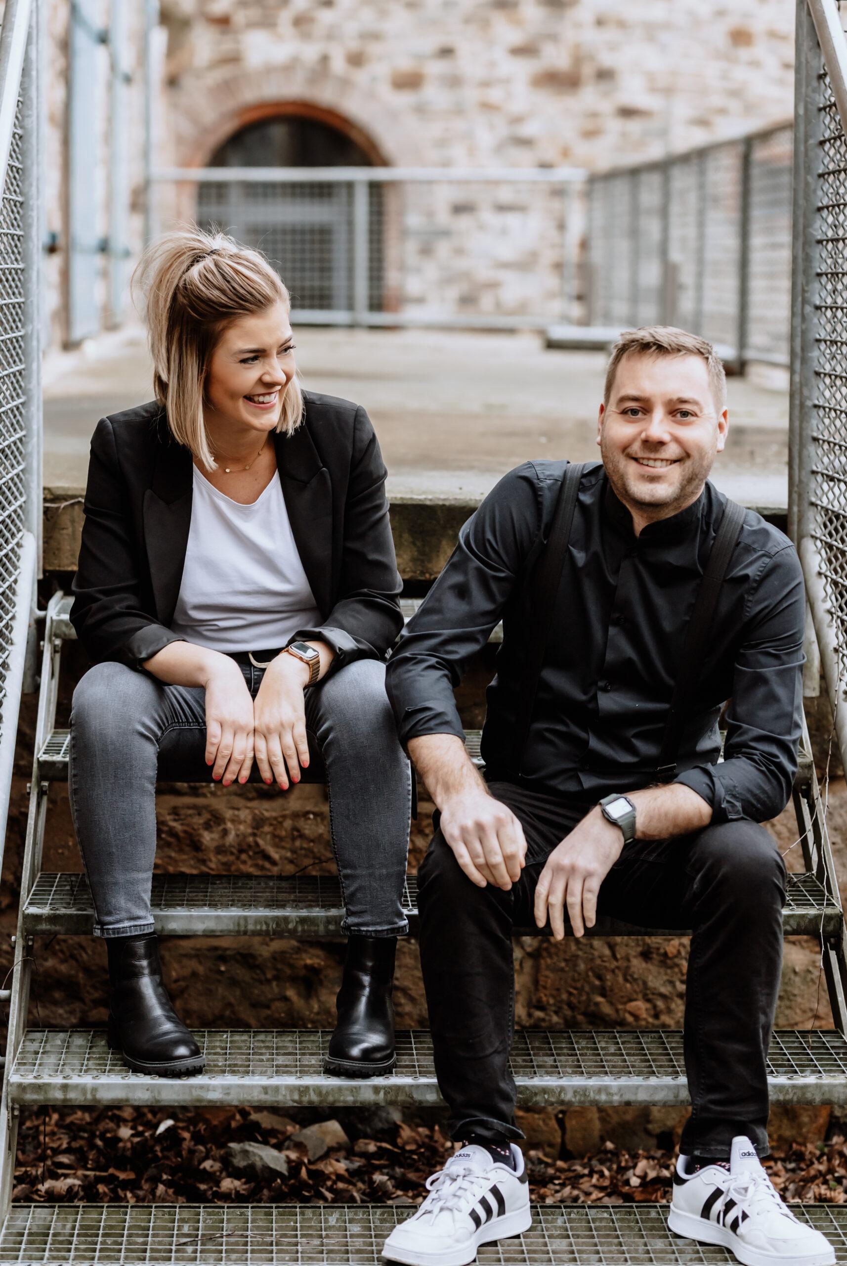 Teamfoto Bernd und Carolin Kramer